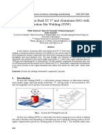 penyambungan AL6061 dan ST37 dengan FSW