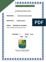 SISTEMA de CALIDAD Analisisi Microbiologico de Agua