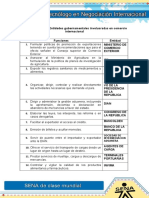 Evidencia 3 Entidades Gubernamentales