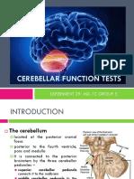 Cerebellar Function Tests