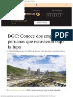 BGC Conoce Dos Empresas Peruanas Que Estuvieron Bajo La Lupa Gestionpe