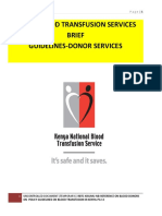 Knbts-blood Donation Guidelines