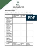 Pauta evaluación proceso