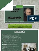 Immanuel Kant PEDAGOGIA