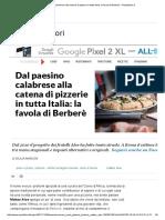 Dal Paesino Calabrese Alla Catena Di Pizzerie in Tutta Italia_ La Favola Di Berberè - Repubblica