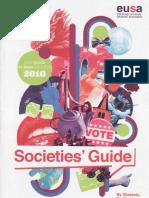 Societies Guide 2010 EUSA