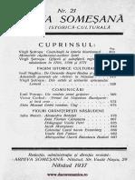 Arhiva someşană - Revistă istorică-culturală, 14, nr. 21, 1937