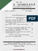 Arhiva someşană - Revistă istorică-culturală, 16, nr. 26, 1939