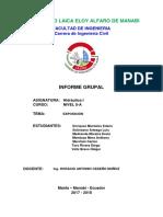 Informe Grupal Hidrálica I