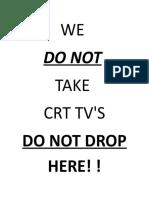 Crt Tv Sign Crap