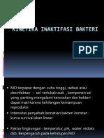 2. Kinetika Inaktifasi Bakteri