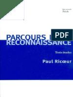 Paul Ricoeur-Parcours de la reconnaissance. Trois études-Stock (2004).pdf