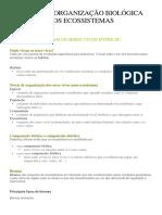 Níveis de Organização Biológica Dos