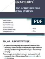 Passive and Active Building Energy Systems