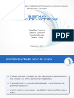 Entorno Socio-politico e Institucional