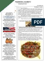 Columbiettes - November 2017 Newsletter