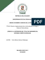 Diseño e Implementacion de Un Sitio Web Para El Colegio a Distancia Técnico Bucay
