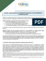 D-1013-359-AW-Official Controls Regulation - HOTREC Position Position Paper - Final