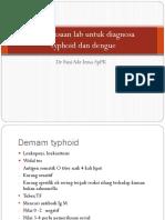 Pemeriksaan Lab Untuk Diagnosa Tipoid Dan Dngue