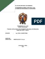 NIVELACION Y SECCIONAMIENTO DE CANAL DE IRRIGACION,  PAMPA DEL ARCO.docx