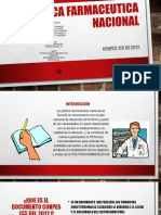 Politica Farmaceutica Nacional Conpes 155