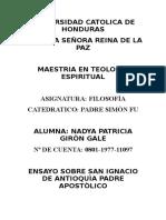 Ensayo San Ignacio de Antioquía