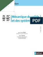 Mécanique Du Solide Et Des Systèmes PC MP PT