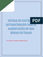 SISTEMA DE ALIMENTACIÓN PARA POLLOS