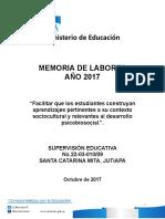 Memoria de Labores 2017