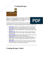 HMToTT - Activities - Cookinig Recipes