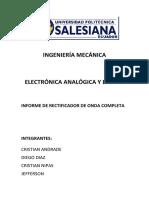 Informe de Laboratoria de ELECTRONICA