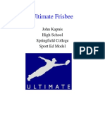 sport ed ultimate frisbee