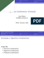 Algoritmos Combinatórios - Lucia Moura