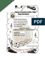 Historia de La Música Peruana Hasta Nuestros Días