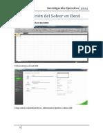 Aplicación Del Solver en Excel