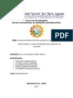 Investigacion Microbiologia Queso y Yogurt Artesanal Talavera