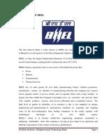 Bhel Summer Trainig Construction of Turbo-generator