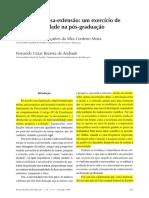 Ensino-pesquisa-extensão - Um Exercício de Indissociabilidade Na Pós-graduação