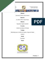 Metodología para el análisis de riesgos y riesgos de trabajo