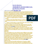 Difficulties in Filing Acknowledgement of Income Tax Return