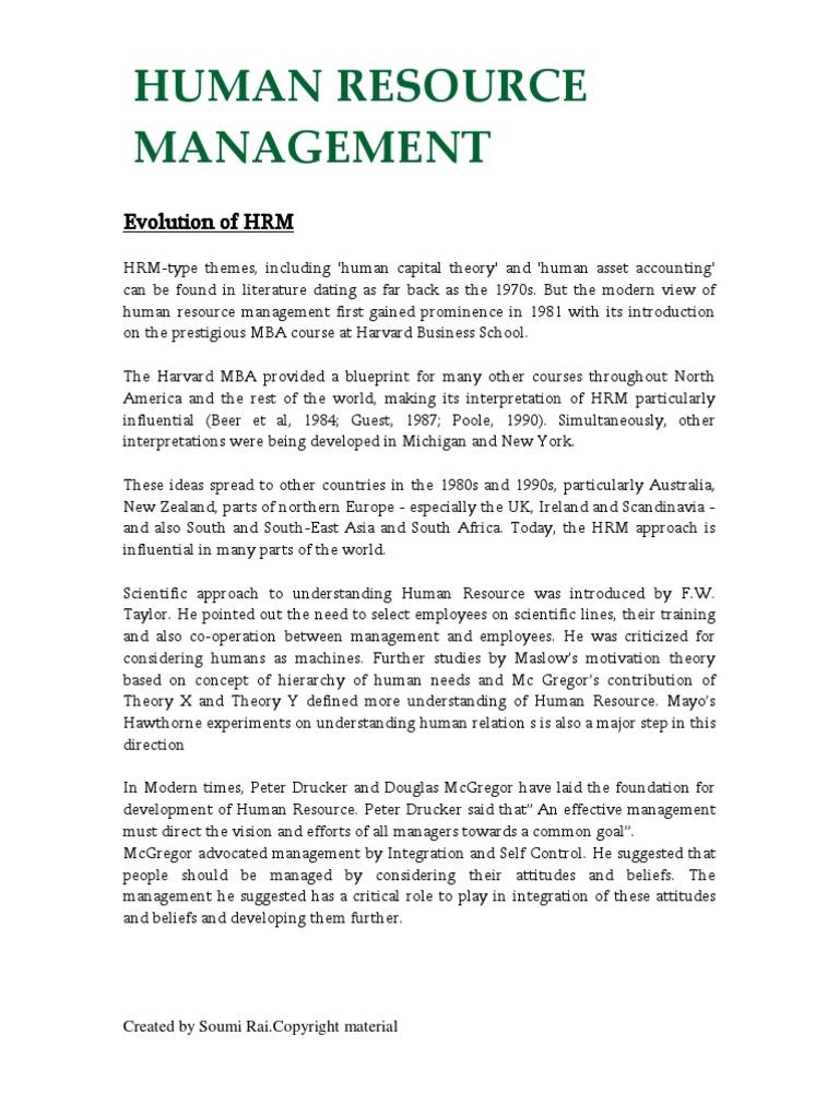 Evolution of hrm human resource management welfare malvernweather Choice Image