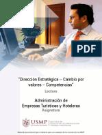 Administración de Empresas Turísticas y Hoteleras - Dirección Estratégica, Cambio Por Valores, Competencias 2