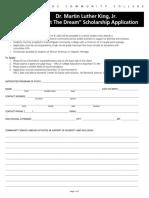 mlk scholarship application