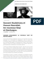 Qassem Souleimany Et Hassan Nasrallah, LesNouveaux Giap EtCienfuegos