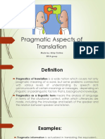 Pragmatic Aspects of Translation