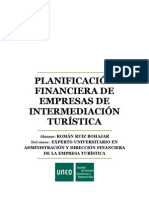 Planificación financiera de empresas de intermediación turística