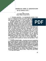 Conceptos Generales Sobre La Emancipacion en El Codigo Civil