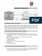 Intern Self Evaluation