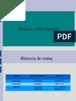 Roma e o seu imperio. Presentación.