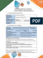 Guía y Rubrica de Evaluación - PFase 4. Realizar La Evaluación Social y Amabiental Del Proyecto
